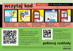 Kody QR na wrocławskich przystankach autobusowych.